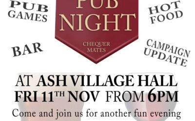 Fri 11th November – New Pub Night Coming – Save the date !